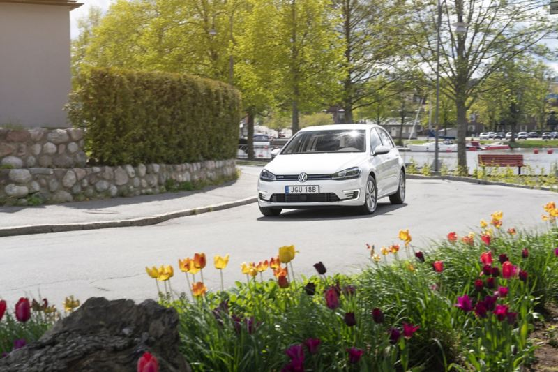 Volkswagen e-Golf i rörelse