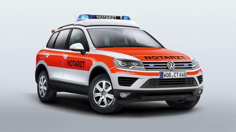 Ein Volkswagen als Rettungsfahrzeug umgerüstet