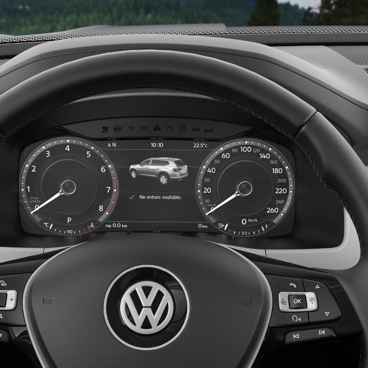 Dashboard of a VW car