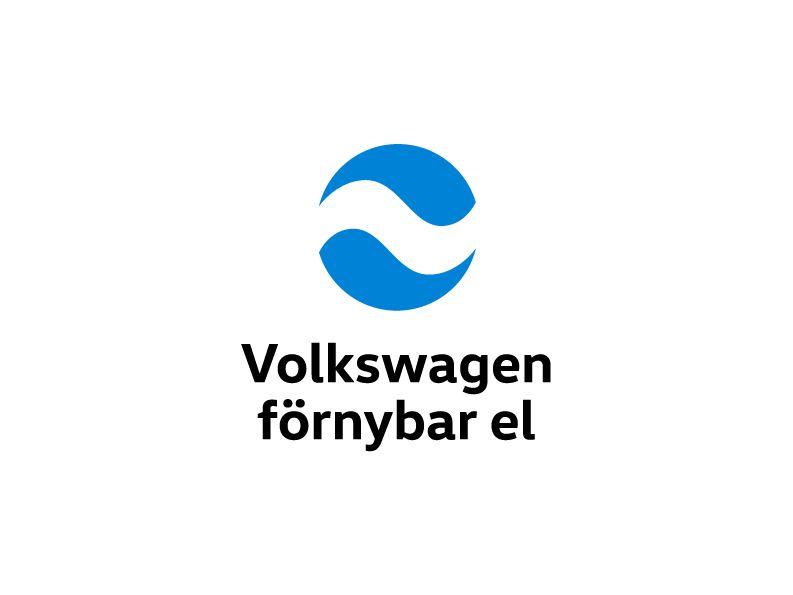 Volkswagen förnybar el - symbol