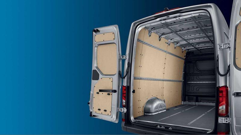 vw Volkswagen e-Crafter el varebil elektrisk varebil elbil elvarebil miljøvennlig grønn budbil bud lastevolum nyttelast lasterom varerom utvendig innvendig mål tekniske spesifikasjoner