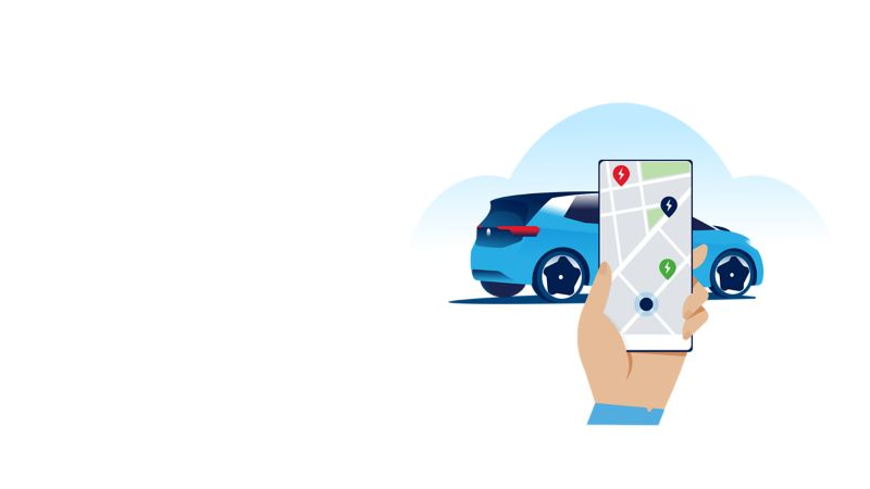 Smartphone con App We Connect incluse le mappe