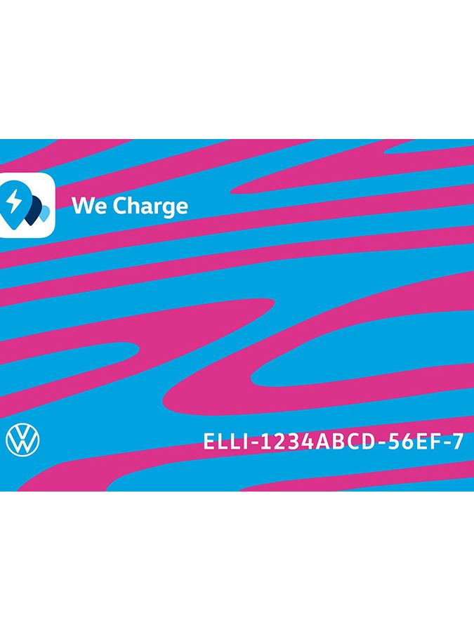 De We Charge-laadkaart in ID.3-design