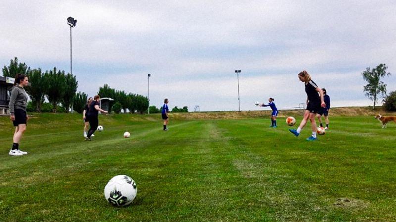 Training auf dem Fußballplatz