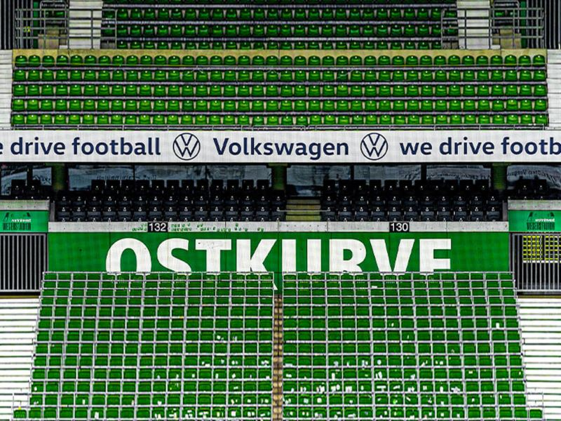 Leeres Stadionplätze bei Werder Bremen