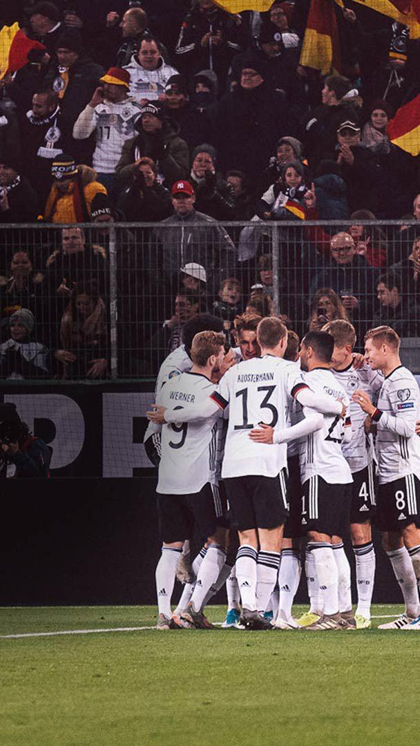 Spieler der deutschen Nationalmannschaft beim Jubeln