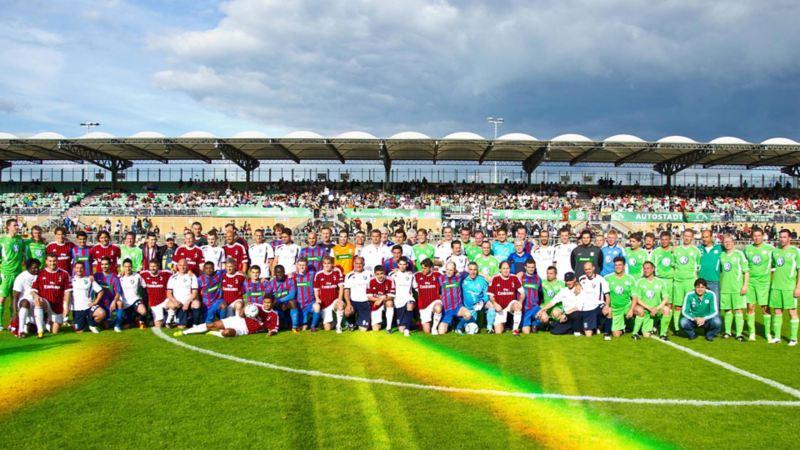 Zum 50. Lupo-Jubiläum kam die Traditionsmannschaft des AC Mailand nach Wolfsburg