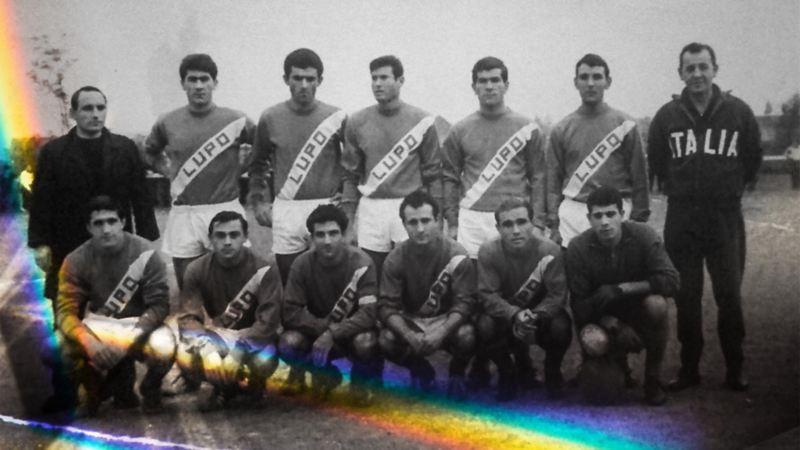 Historisches Mannschaftsfoto von Lupo Martini