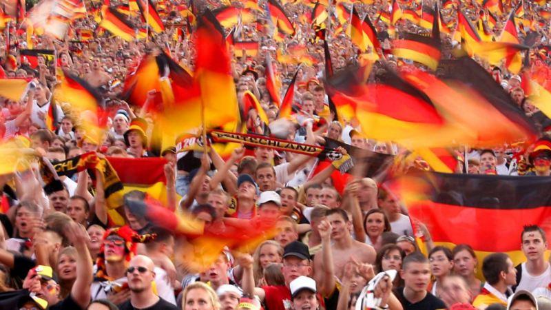 Die Fanmeile in Berlin nach einem Tor