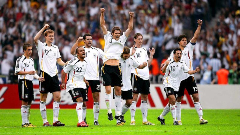 Die deutsche Mannschaft bei der WM 2006