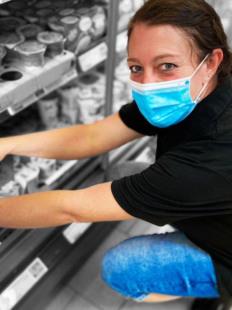 Christina bei der Arbeit