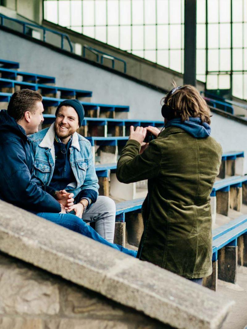 In Schalke vor einer Fankneipe