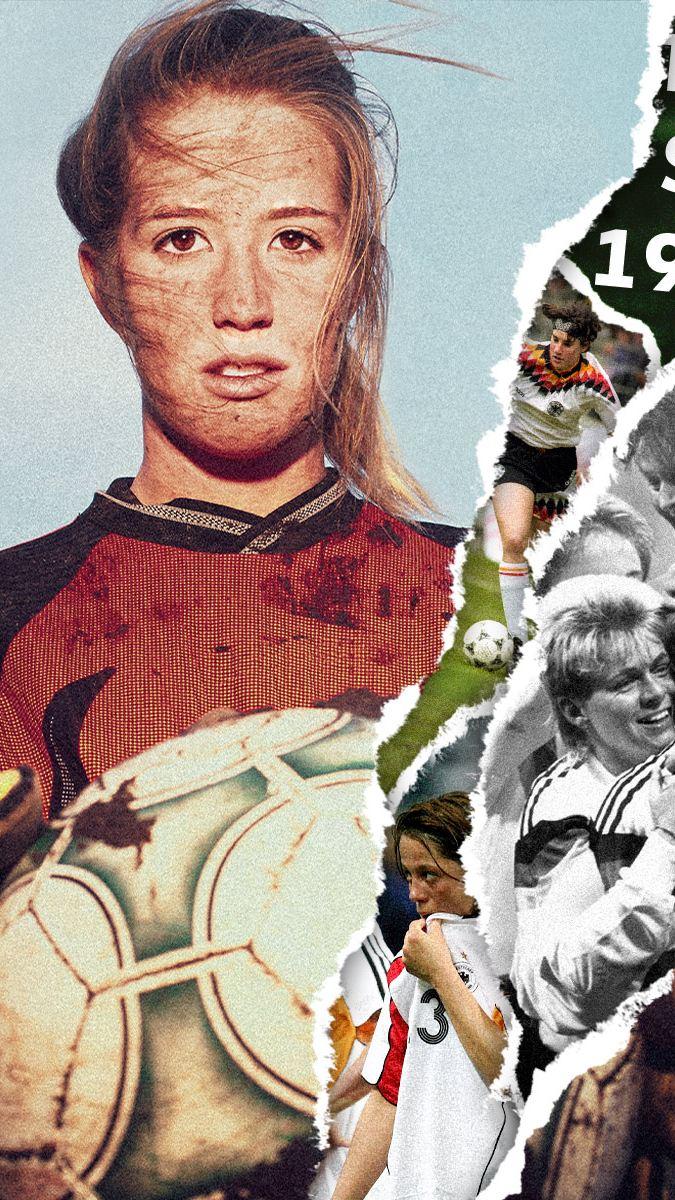 Collage von Fußballerinnen