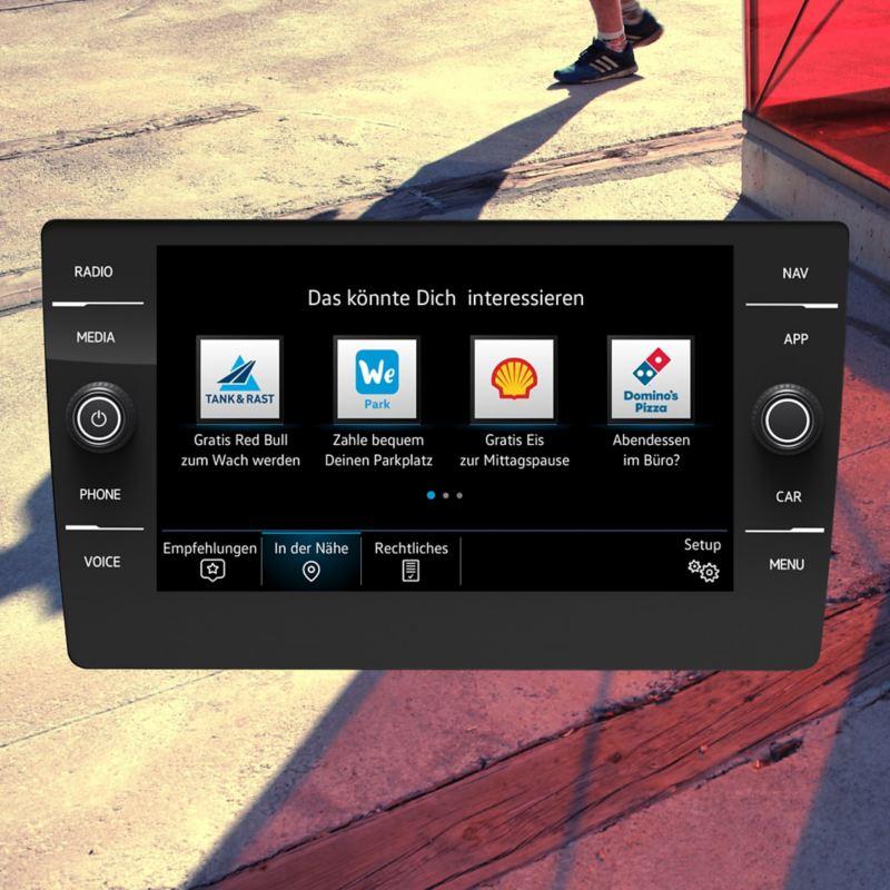 Navigationssystem Discover Media Gen. 3.1 Infotainment mit der Anzeige von We Experience.