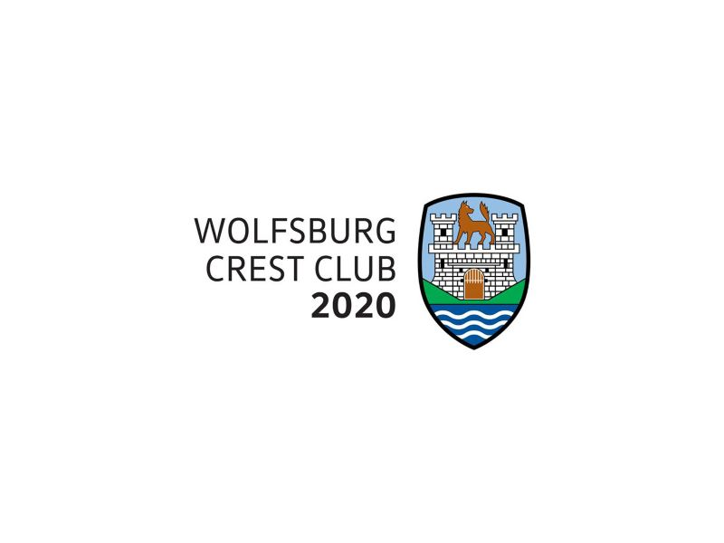 The logo of Wolfsburg Crest Club