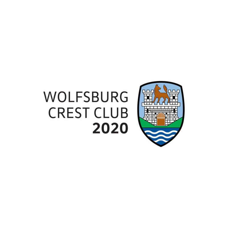 a logo of Wolfsburg crest club