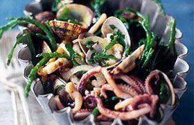 Seafood salad with Alta Italia Pinot Grigio