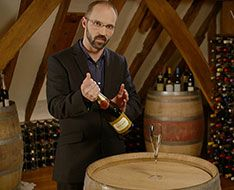 Stephane Sanchez shows how to open champagne