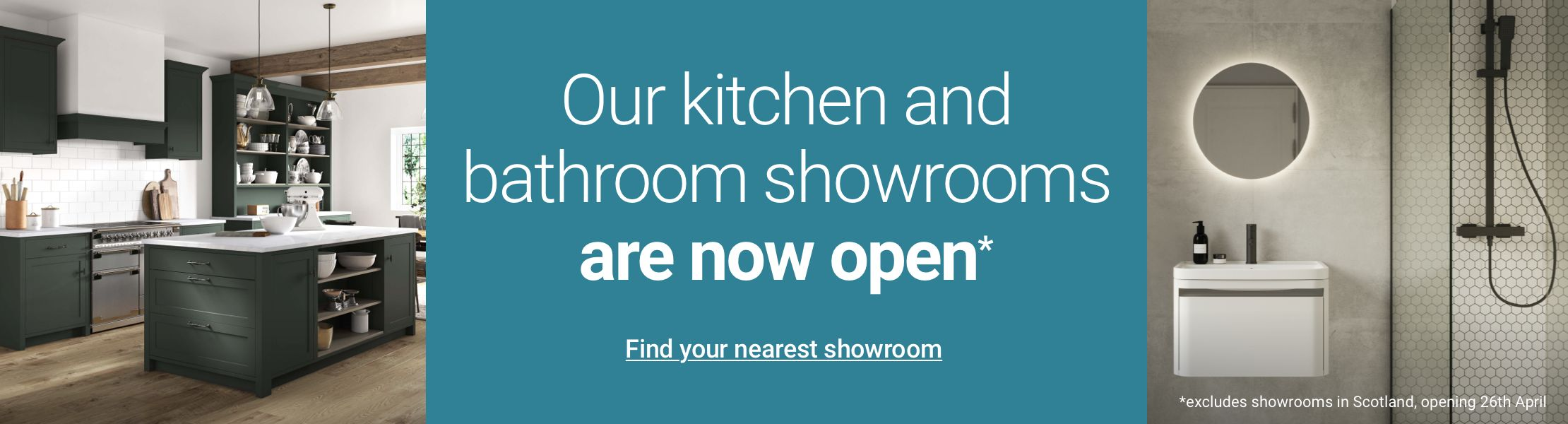 Our showrooms are open