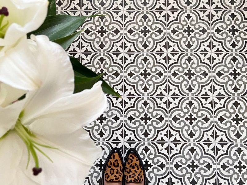 Melia Charcoal Patterned Tile