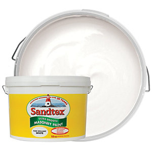 Sandtex Ultra Smooth Masonry Paint - Pure Brilliant White 10L