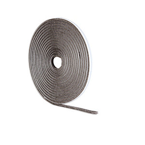 Wickes Pile Tape Draught Seal Grey - 5m