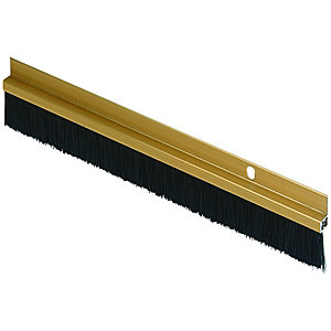 Wickes Door Brush Draught Excluder Gold Effect - 838mm
