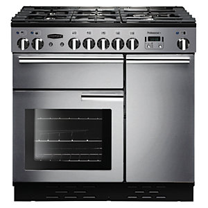 Rangemaster Professional+ 90cm Dual Fuel Range Cooker - Stainless Steel