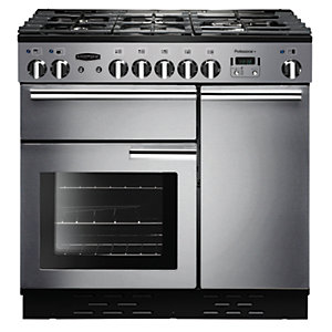 Rangemaster Professional+ 90cm Natural Gas Range Cooker - Stainless Steel
