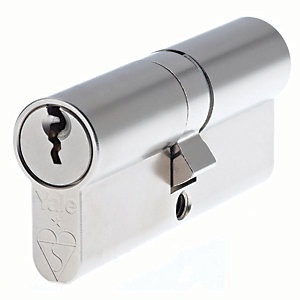 Yale PKM4545-NP British Standard Euro Profile Cylinder Lock - Nickel 45mm