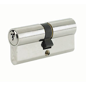 Yale P-ED4545SNP Euro Profile Cylinder Lock - Nickel 45 x 10 x 45mm