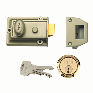 Yale P-77-ENB-PB-60 Traditional Nightlatch Lock - Green & Brass
