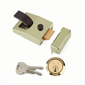 Yale P-89-BLX-PB-60 89 Deadlocking Nightlatch - Brass 60mm
