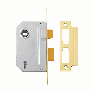 Yale P-M246-PB-63 2 Lever Sashlock - Brass 64mm