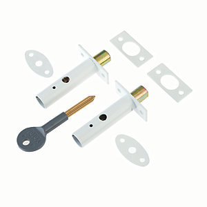 Yale P-2PM444-WE-2 Door Security Bolt - White Pack of 2