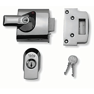 Yale P-BS1-CH-CH-60 British Standard Nightlatch Lock - Chrome 60mm