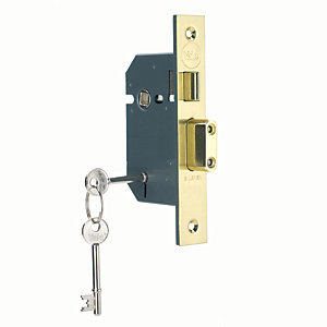 Yale P-M550-PB-78 5 Lever Sashlock - Brass 76mm