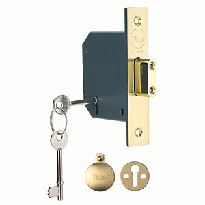 Yale P-M552-PB-78 5 Lever Deadlock - Brass 76mm