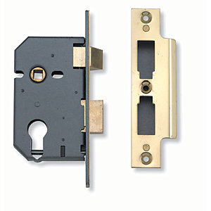 Yale B-3200-PB-64 Sashcase Lock - Brass 2.5in