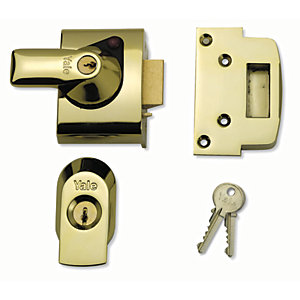 Yale P-BS2-BLX-PB-40 British Standard Nightlatch Lock - Brass 40mm
