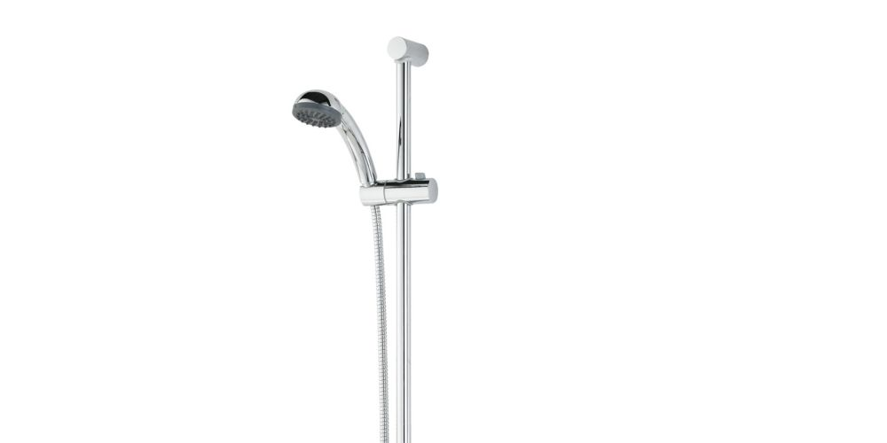 Bristan Zing Cool Touch Thermostatic Bar Mixer Shower & Adjustable Riser Kit - Chrome