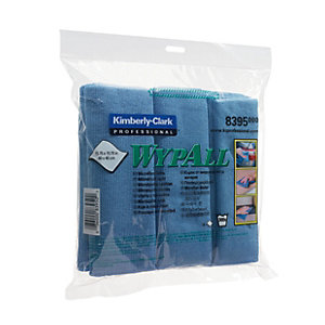 Wypall Microfibre Blue Cloths - Pack of 6