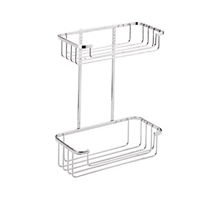Croydex Rust Free 2 Tier Cosmetic Chrome Shower Basket - 215mm