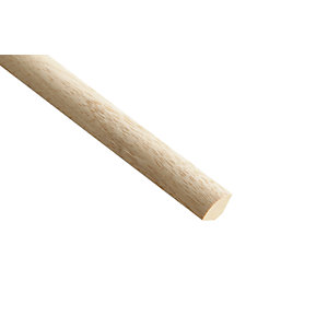 Wickes Light Hardwood Quadrant Moulding - 21mm x 21mm x 2.4m