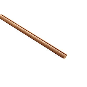 Wickes Dark Hardwood Glass Bead Moulding - 9mm x 9mm x 2.4m