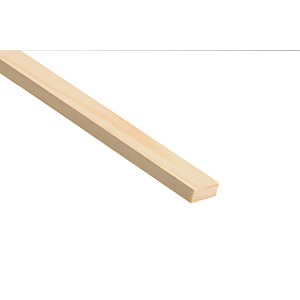 Wickes Pine Stripwood Moulding (PSE) - 10mm x 25mm x 2.4m