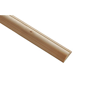 Wickes Pine Double Astragal Moulding - 34mm x 12mm x 2.4m