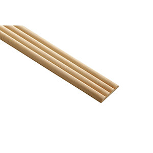 Wickes Pine Reed Moulding - 34mm x 6mm x 2.4m