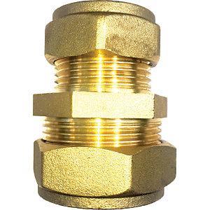 Wickes Brass Compression Reducer Coupling - 28 x 22mm