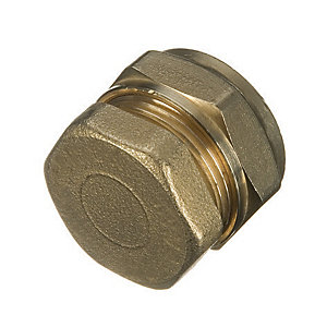 Wickes Brass Compression Stop End Cap - 28mm